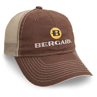 BERGARA CAP BROWN/TAN MESH