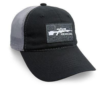 BERGARA PATCH HAT BLK/CHARCOAL