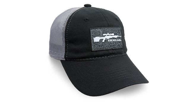BERGARA PATCH HAT BLK/CHARCOAL